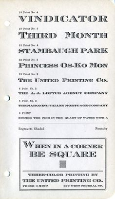 Engravers Shaded type specimen #type #specimen