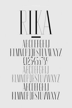 NR2154 #font #serif #rika #fashion #type #beauty