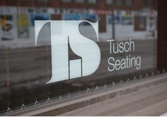 Underline Studio - Tusch Seating #witty #negative #tusch #space #identity #minimal #logo #seating