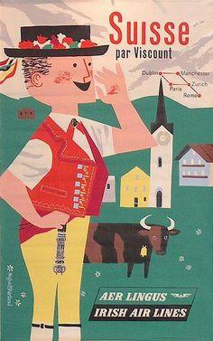 Poster: Aer Lingus - Suisse Artist: Negus Sharland