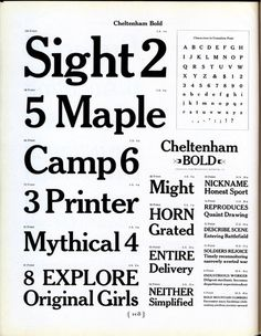 Daily Type Specimen | This is ATF's version of Cheltenham Bold by... #typography