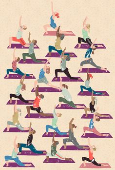 The Observer 'The New Review' harrydrawspictures #illustration #yoga