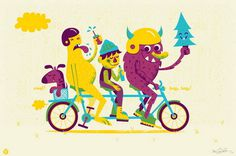 Beep Beep bicycle by Vahalla Studios #illustration #bike #poster #party