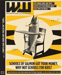 — + Willamette Week #cover #illustration #salmon #magazine