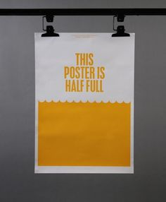 Because Studio — Design & Art Direction/Optimism/Pessimism #print #studio #poster #because