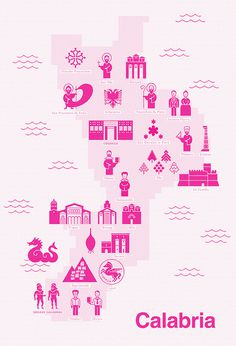 Territorial Alphabets Italy #design #map #icons #italy