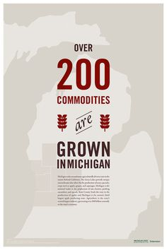 When the Michigan State Extension wanted to promote the economic and community benefits of locally-sourced food, Wit & Craft helped by devel #information #design #infographic #poster
