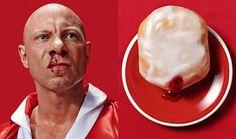 donut #blood #portrait #donut #man #marmalade