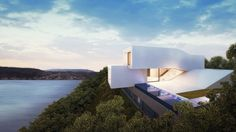 Waterfront House Architecture – Fubiz™ #architecture #white #house