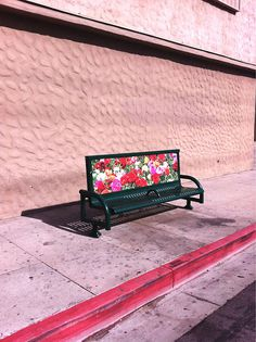TOSS & TURN #photo #street #bench #flowers
