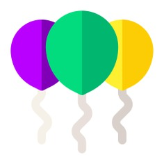 See more icon inspiration related to balloon, birthday, birthday and party, new year, balloons, celebration, decoration and party on Flaticon.
