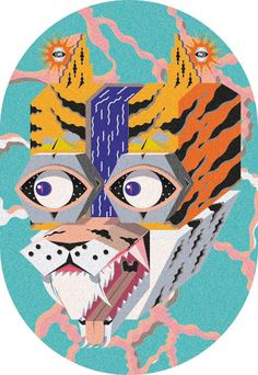 THE GUARDIAN on Behance #abstract #illustration #tiger