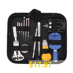 Multifunctional #Watch #Repair #Tool #Set #- #BLACK