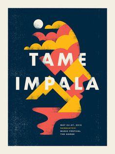Tame Impala - Doublenaut #gig #poster