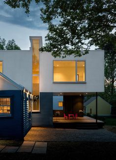 Contemporary Box-Shaped Extension for a Bungalow Home in Maryland 1