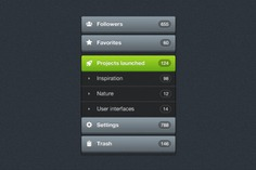 Application interface menu psd Free Psd. See more inspiration related to Menu, Psd, Screen, Application, Material, Interface, Selection, Horizontal and Psd material on Freepik.