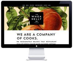 Whoa Nelly Catering Branding & Website on Behance #pattern #branding #fruits #website #illustration #identity