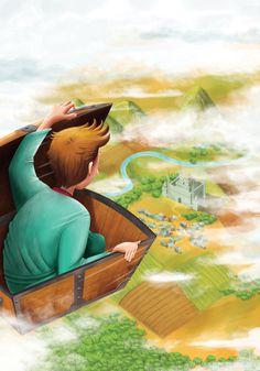 El cofre volador: Hans Christian Andersen illustration by Diego Cáceres #diego #andersen #hans #volador #el #cofre #digital #illustration #painting #christian #caceres