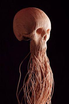 Google Image Result for http://4.bp.blogspot.com/_99TmI8-qpfs/TQ8bOFTm2NI/AAAAAAAAZuw/MVjz_oTJdeY/s1600/corde%252Bde%252Bpapier.jpg #jim #skull #sculpture