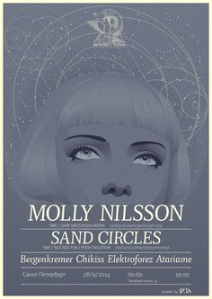 poster for Molly Nilsson's shows in Russia