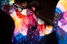Google Reader (1000+) #glasses #projection #girl #color #geometric
