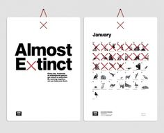 Creative Review - CR Annual: graphics picks #design #typography #calendar #extinction