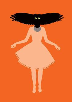 polska ilustracja dla dzieci il. Anna Goszczyńska #illustration #face #girl #bird