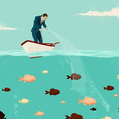 Oliver Winward Illustration on Behance #winward #oliver #illustration #fishing