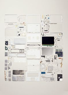 Things Come Apart, 50 Disassembled Objects in 21,959 Individual Parts by Todd McLellan #apple #neatly #photography #organized