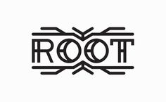 Root logo - Justin Block #root #thick #bold #black #simple #logo