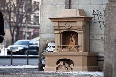 Bartek Elsner #street #art #cardboard #installation