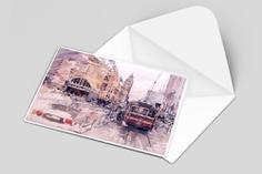 Postcard Presentation Mockup Template