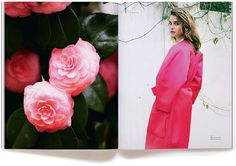 Town Daily Magazine #pink #roses #fashion #layout #editorial #flowers