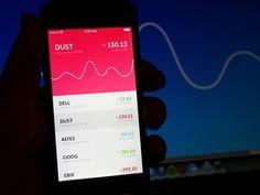 Mini Stock App #line #red #iphone #app #finance #stock #chart