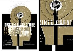 Shop: Posters: IC + The Black Heart Procession #poster #screen print #invisible creature