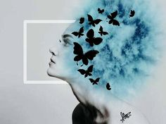 #photography#editorial#blue#girl#butterfly#photo editor