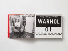 Warhol Book #layout #book design #print design #editorial