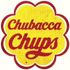 chubacca chups #design #advertising #retro #chupa chups #chewbacca #manipulated