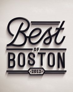 Best of Boston 2012 on the Behance Network #logo #typography