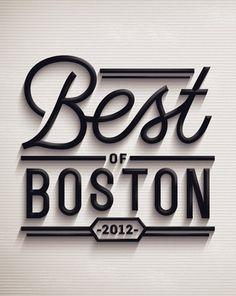 Best of Boston 2012 on the Behance Network #logo #typography