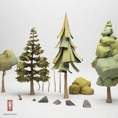 FFFFOUND! | jeremyKool_toolSet.png (625×625) #jeremy #paper #trees #kool