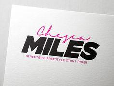 Identity // Streetbike freestyle stunt rider // #pink #print #flyer #bold #freestyle #stunt #photography #identity #bike #stock #logo #rider
