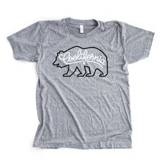 freindsoftype_coolifornia_Tshirt.jpg (862×864) #lettering #coolifornia #shirt #gray #bear #california