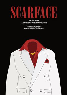 minimalistic movie poster #movie #minimalistic #illustration #poster #scarface
