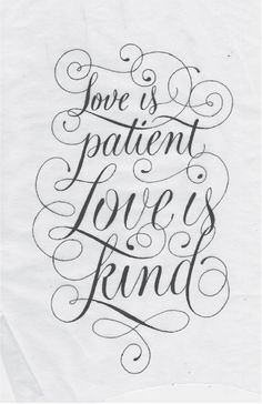 1 Corinthians 13:4 on Behance #type #script #hand #typography