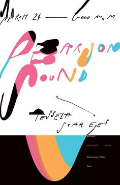 Pearson Sound Good Room, Braulio Amado #poster #typography