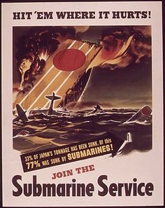 17-0634a | Flickr - Photo Sharing! #1940s #propaganda #ww2 #war #illustration #poster #submarine #japan