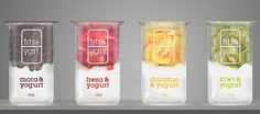 ::: frts & ygrt ::: on the Behance Network #yogurt #design #fruit #package