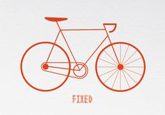 Image of Fixed #fixie #bicycle #print #risograph #bike #poster