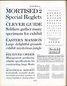 Scotch Roman type specimen #type #specimen #typography